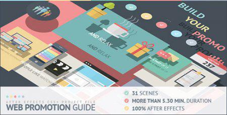 公司企业网络推广指南宣传片AE模板 Web Promotion Guide