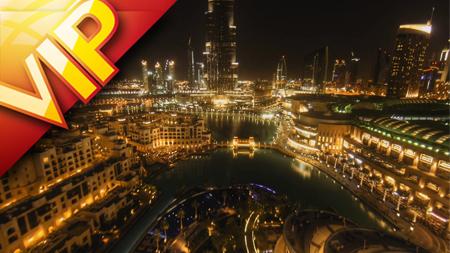 迪拜雄伟建筑商务大楼最美街景延时摄影城市风光灯光车流高清实拍