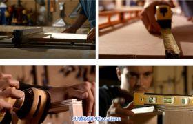 4组家庭装修家居装潢系列2 打磨边量尺 机器切板等高清实拍