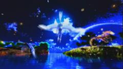 蓝色婚礼花瓣天空飞马唯美?#21024;?#21160;态视频背景