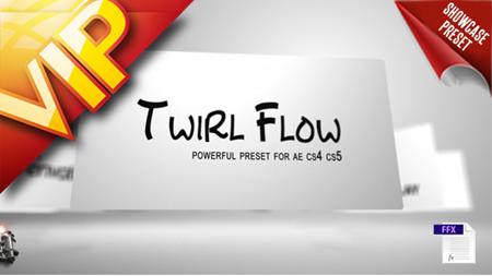 旋转卡片图文展现AE模板 Twirl Flow Preset
