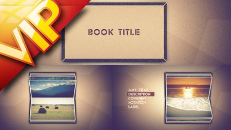 翻动的书本相册图文展示AE模板 Photo book scrolling