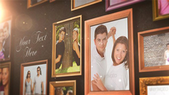 圖像照片/視頻墻風格婚禮家庭相冊AE模板Real fr<x>ames Photo Al