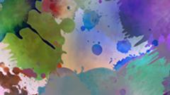 2组浓墨重彩涂鸦人生彩色墨水动态视频背景