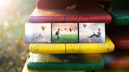 美丽大自然真实环境野外电子相册AE模板 Realistic Photo Gallery
