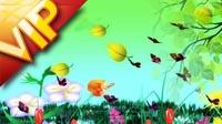 春意盎然春天彩虹花草 led视频vj素材晚会大屏幕背景喜庆
