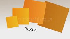 复杂正方形幻化字幕标题展现动画AE模板 Four Squares