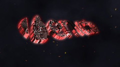 火热的岩浆融液效果标志Logo展示AE片头模板 Volcano Logo