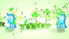 上海世博會開幕式片頭四葉草飄舞海寶世博會標志