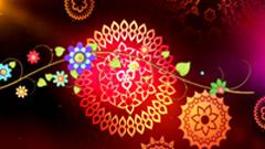 红色背景唯美古典花纹设计动态视频