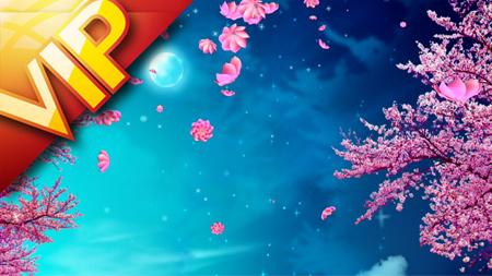唯美三维樱花花瓣飘落舞蹈节目背景