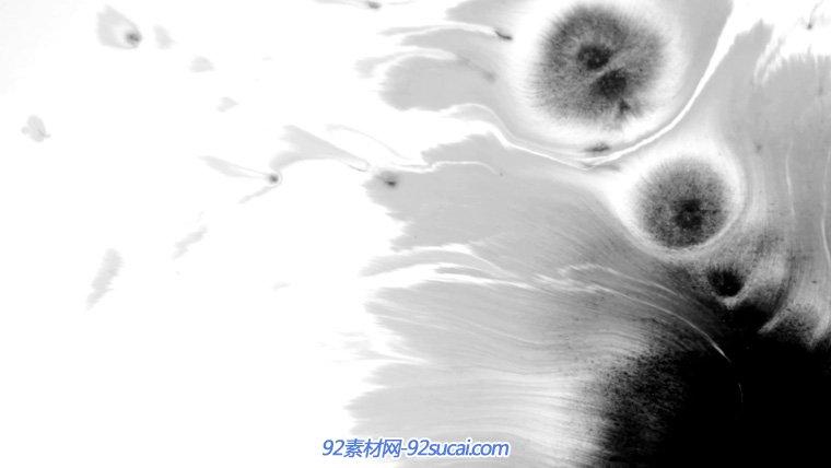 22个高清古典水墨滴墨晕开特效素材 唯美中国风墨滴之