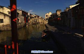 中国江南水乡小桥流水小巷黛瓦古镇风景