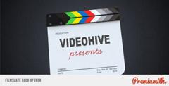 影戏场记板打板展现Logo标记AE模板 Filmslate Logo Opener