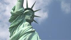 美国纽约自在女神铜像特写镜头