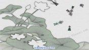 宣纸荷花游鱼水墨系列中国风舞台背景视频素材