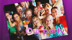 图片组合分屏效果展示AE模板 Our party