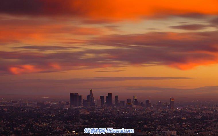 延时拍照 洛杉矶 都会夜景 灯光夜景 昼夜幻化 工夫幻化 高清实拍