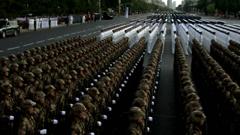 60周年庆典-方队1军人站立整齐军姿标清实拍
