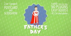 父�H�快�c幻�羝��赢�卡通展示AE模板 Father's Day Slideshow