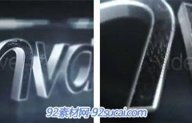 超酷的3D金属质感字体Logo标志展示AE模板 3D me<x>tallic Reveal