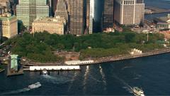 13段美国纽约城市高楼大厦 海景建筑群航拍