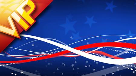 美国星条国旗节日星形烟花气球动态舞台背景