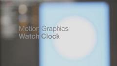 简约时尚的3组时钟钟表MG动画展示AE模板 Clock Watch