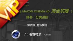 C4D中文入门基础46  制作毛发的材质视频教程
