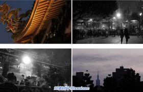 台湾人民云集龙山寺上香祈福盛大场景