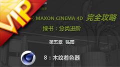 C4D中文入门基础54 木纹着色器视频教程