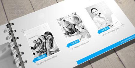 干净简洁的公司企业宣传图册画册动画AE模板 Clean Presentation