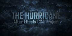 暴风骤雨片头动画字幕展示AE模板 The Hurricane ti<x>tles