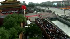 60周年庆典天安门广场航拍