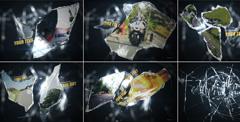 震撼玻璃破裂结果企业宣传片视频图文展现AE模板 Glass Shard