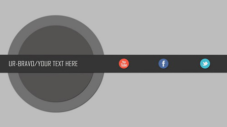 一款简单的社交网络标志介绍AE模板 Social Network Intro