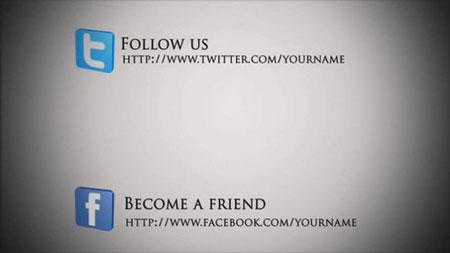 社交网络宣传介绍简单AE模板 Social Network Template