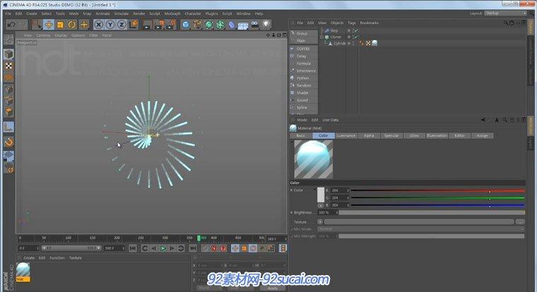 C4D中文基础教程 公式 步幅 效果器 C4D视频教程