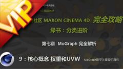 C4D中文入门基础71 权重和UVW视频教程