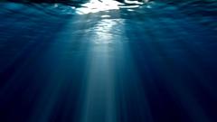 深海的海底阳光视频素材 Ocean Sun Rays