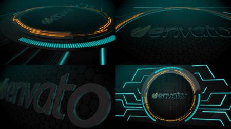 现代科技展示logo标志AE模板 Modern Dark Logo