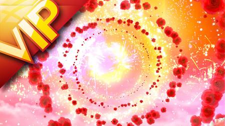 绚丽壮观礼花玫瑰通道歌舞节目婚庆素材