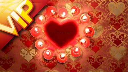 一组高清爱心蜡烛婚庆庆典情人节晚会动态素材