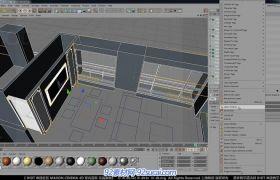 C4D中文室内建模教程5 室内道具建模C视频教程