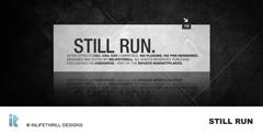 酷黑风格的方片转场动画图文展示栏目包装AE模板 Still Run