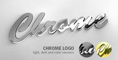 镀铬金属质感Logo标志AE模板 Chrome Logo