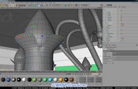 C4D中文室内建模教程11 室内道具建模I视频教程
