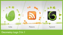 几何图案图形变幻Logo标志展示AE模板 Geometry Logo