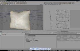 C4D中文室内建模教程13 室内道具建模K视频教程