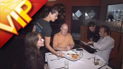 欧美西式餐厅就餐享受美食高清实拍素材